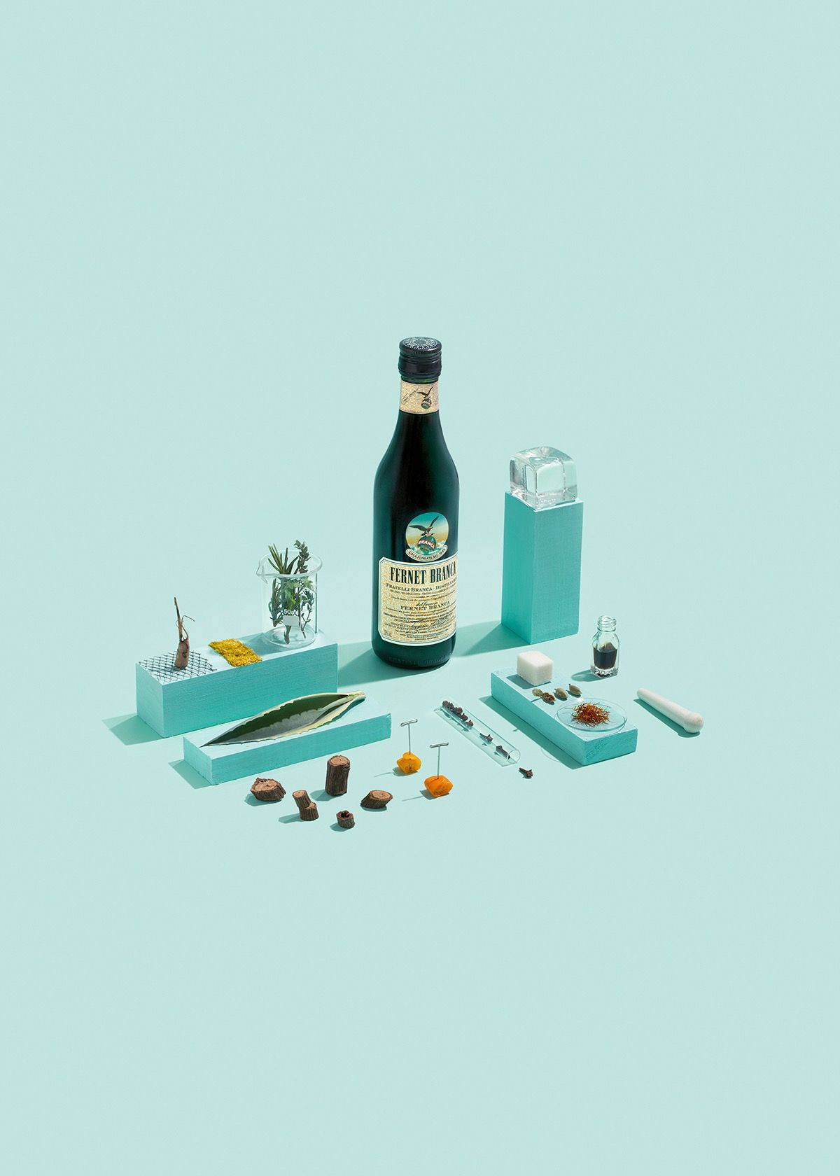 A pop art food photography poster proposal for the 2015 Fernet ...