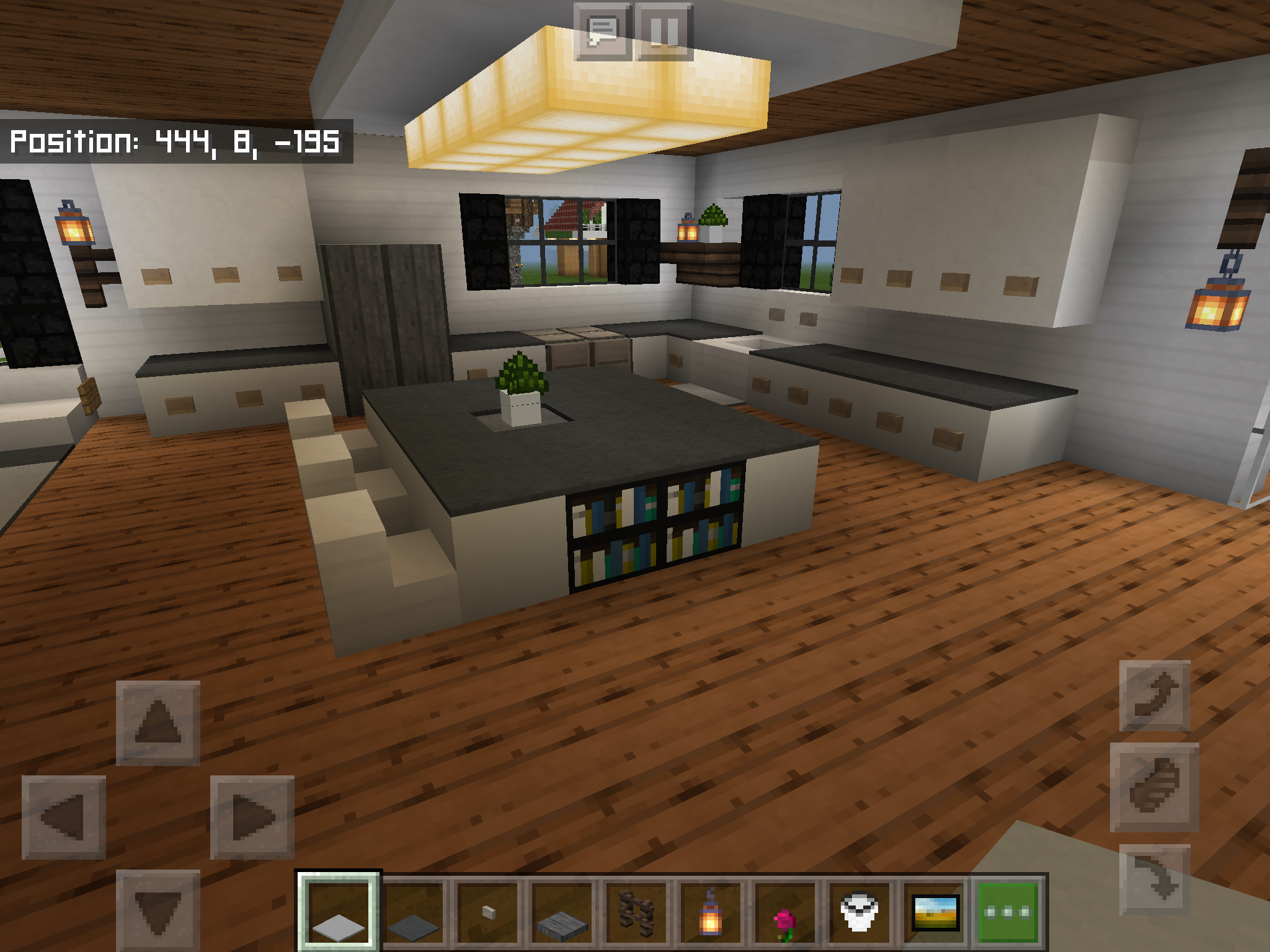 Minecraft Farmhouse Kitchen  Minecraft kitchen ideas, Minecraft