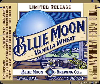 Blue Moon Vanilla Wheat Mybeerbuzz Com Bringing Good Beers Good People Together Blue Moon Beer Beer Logo Blue Moon