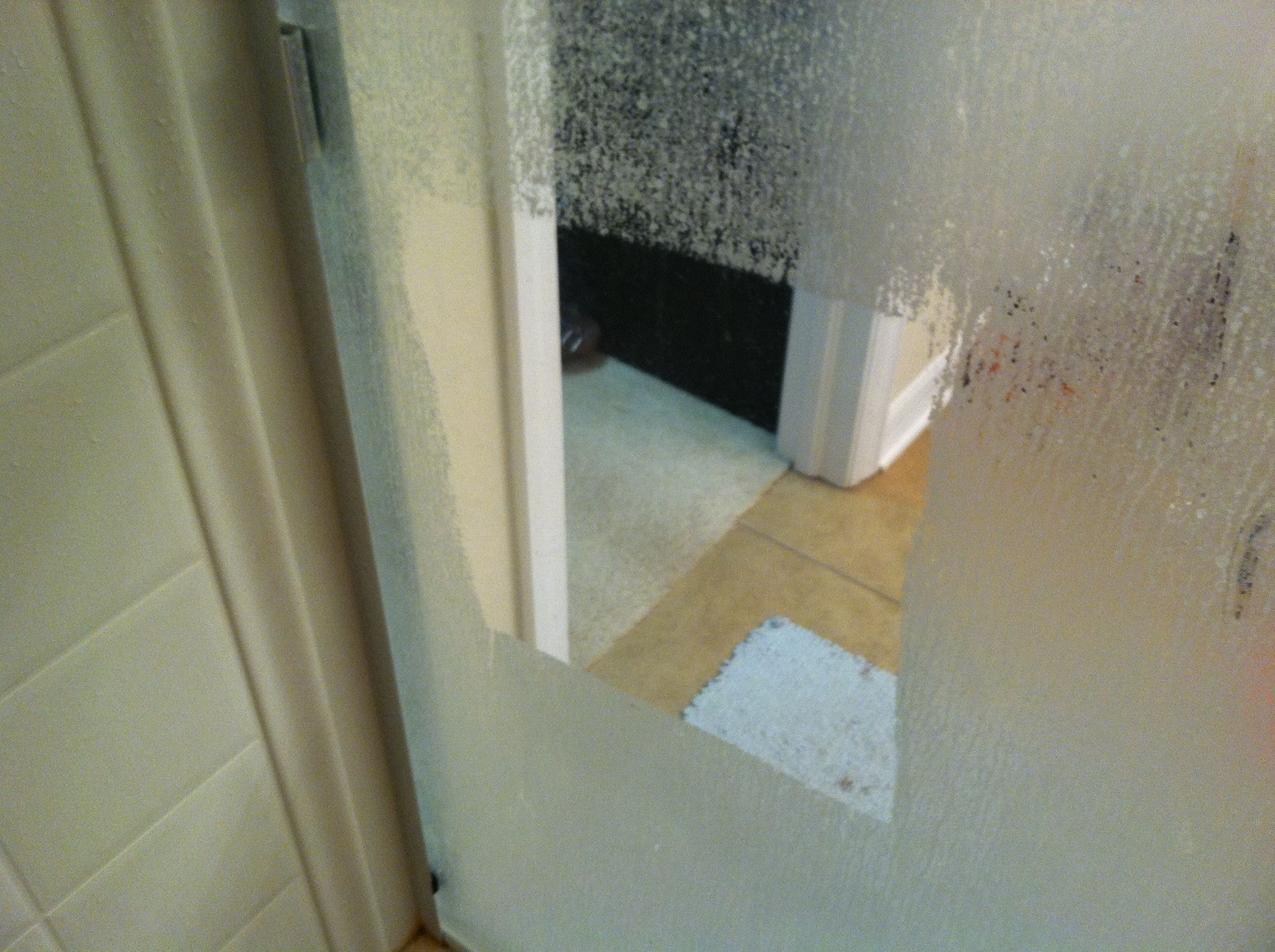 Hard water stains in the glass shower doors. Haven't tried this ...