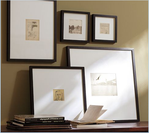 Emily Henderson Stylist Blog Best Ready Made Picture Frames And How To Frame Them Wood Gallery Frames Picture Frames Gallery Wall
