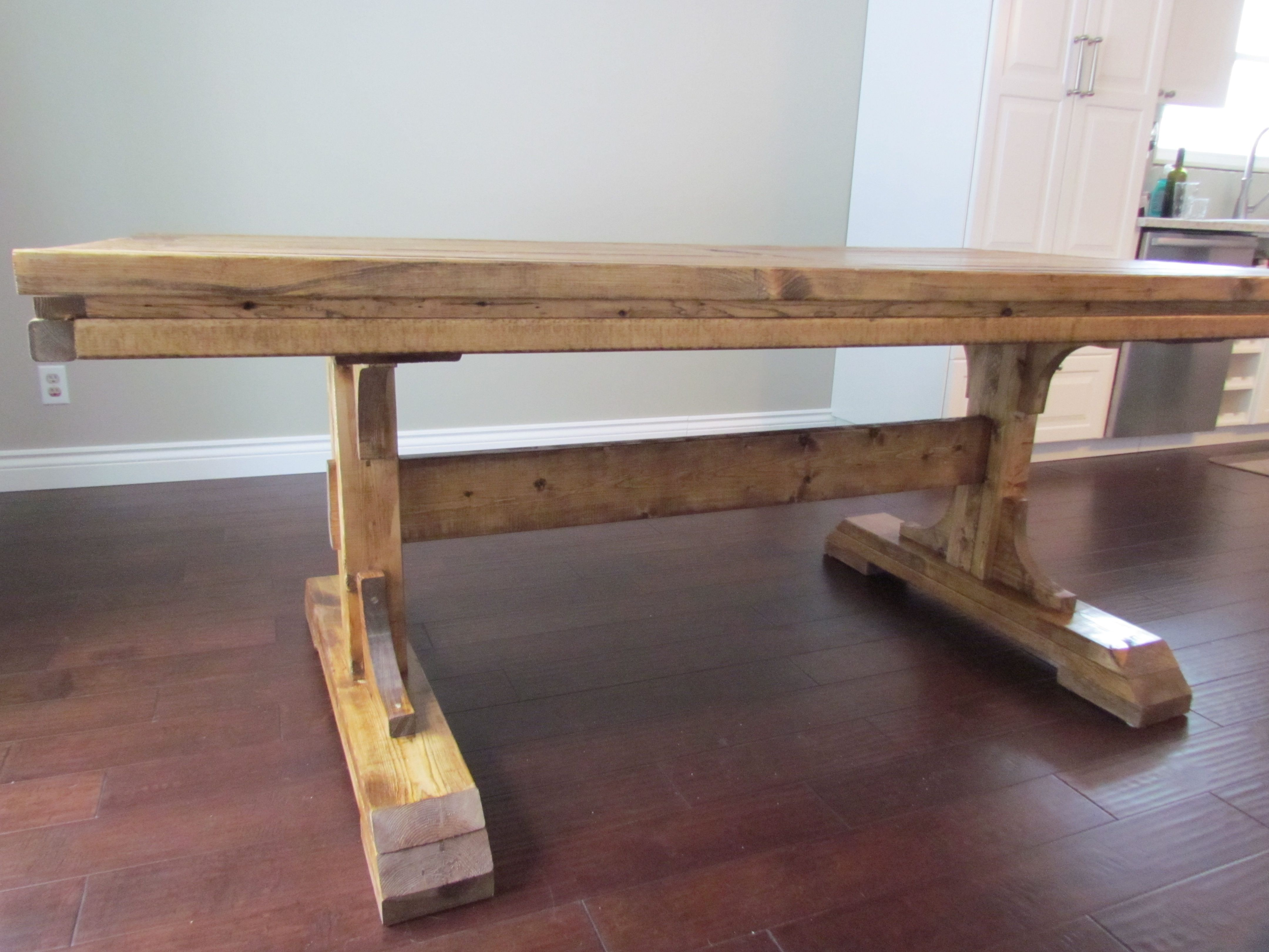 features pedestals transitional ash table osborne double videos pedestal trestle img wood base