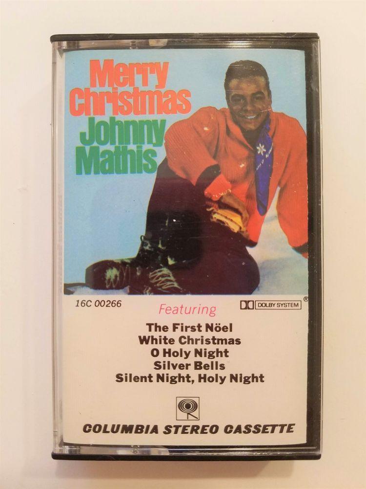 Merry Christmas Johnny Mathis Holiday Music Cassette Tape #Christmas ...