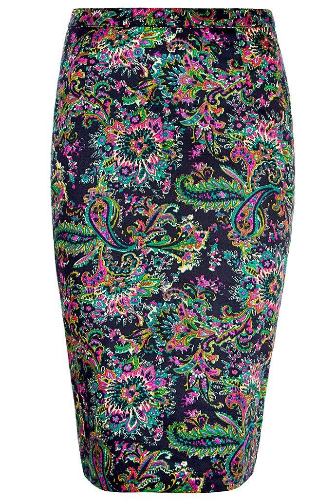 Louche+Larue+Paisley+Skirt