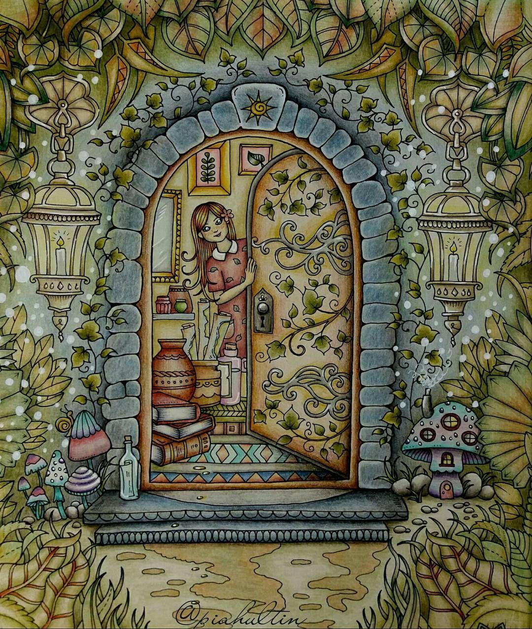 Pin by Debra Gidel on Coloring | Pinterest | Butterfly, Johanna ...