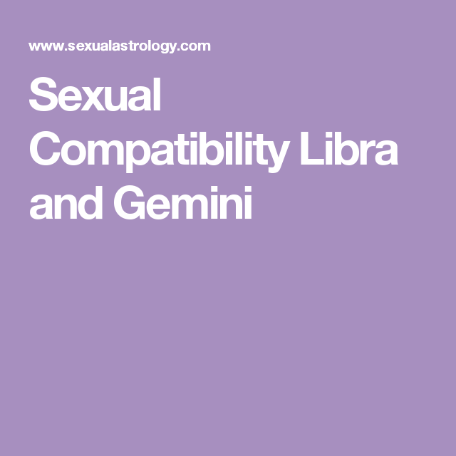 Sexualastrology libra