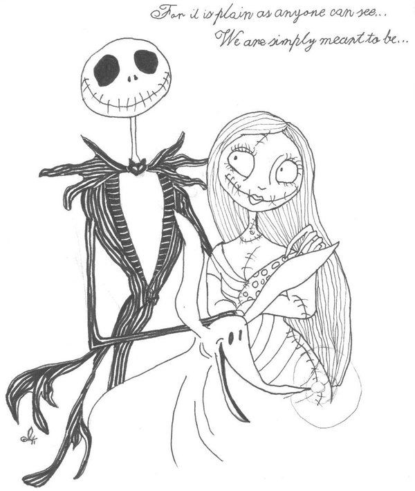 Jack+Skellington+Clip+Art | Jack and Sally by babychild | Jack ...
