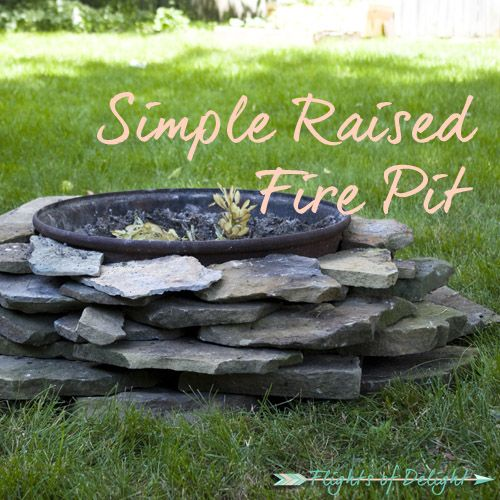 Simple Raised Fire Pit Featured Jpg 500 500 Diy Fire Pit Outdoor Fire Pit Fire Pit