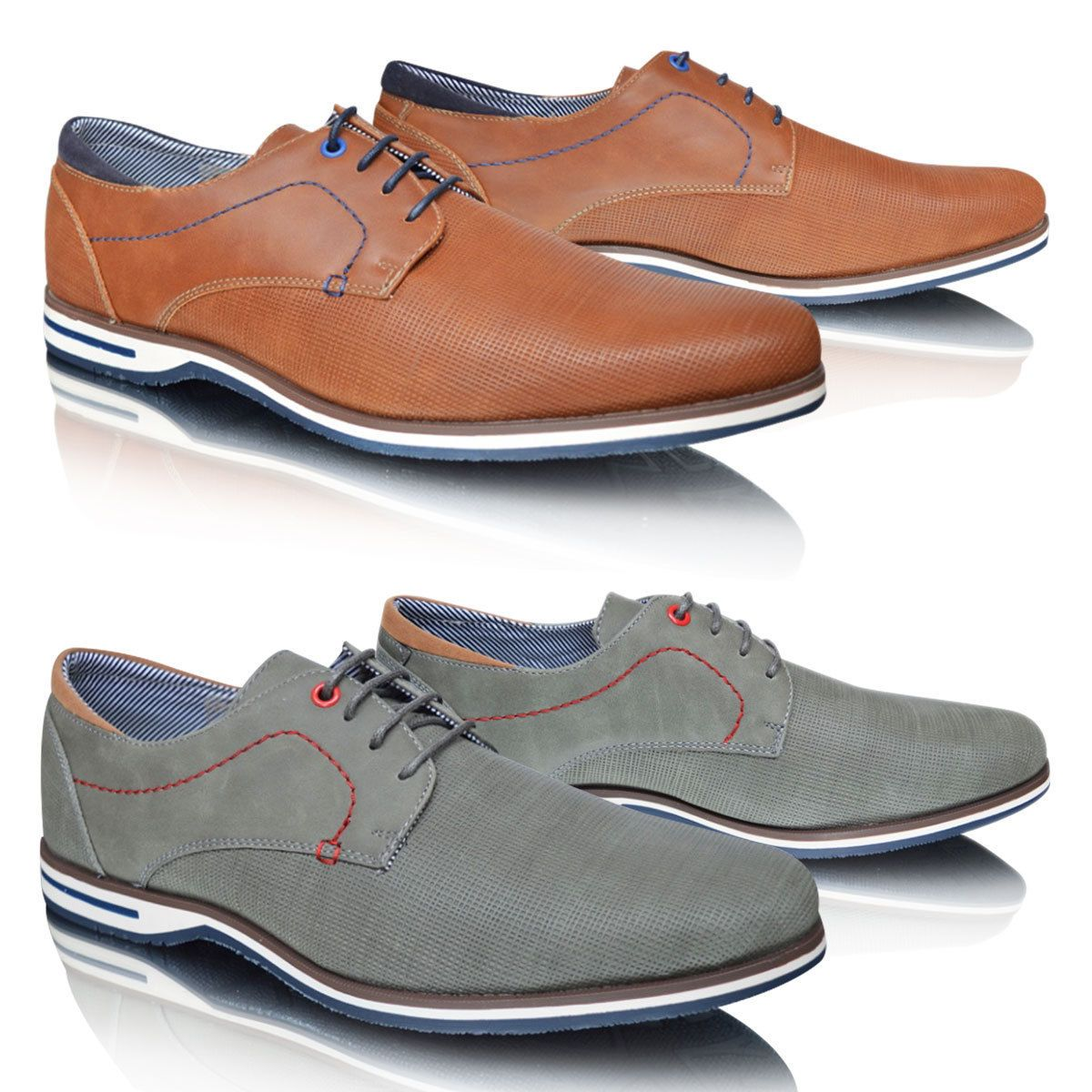 Details about xelay mens casual smart lace up brogues