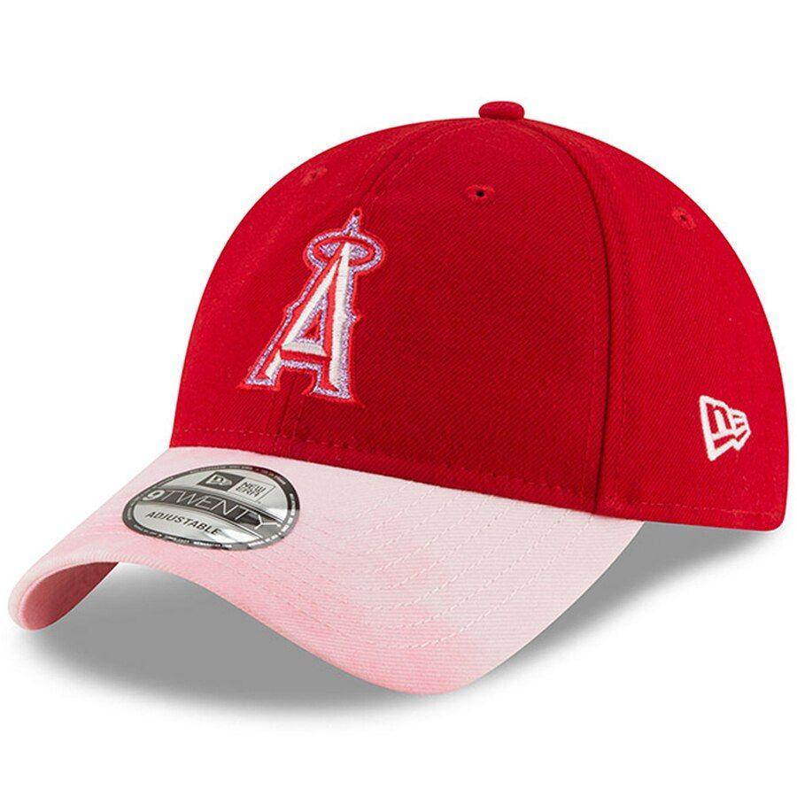 san francisco bc2a4 cb8ff Los Angeles Angels New Era Women s 2019 Mother s Day Team Glisten 9TWENTY  Adjustable Hat - Red
