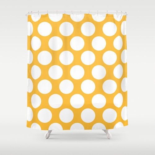 Polka Dot Shower Curtain Bold Shower Curtain Bathroom