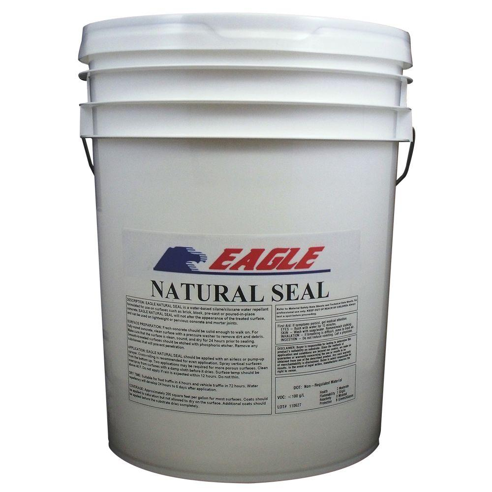 Eagle 5 Gal Natural Seal Penetrating Clear Water Based Concrete And Masonry Water Repellant Sealer And Salt Repellant Em5 Concrete Sealer Concrete Brick Sealer