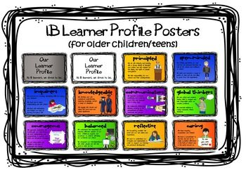 IB MYP (or older PYP) Learner Profile Posters   Products