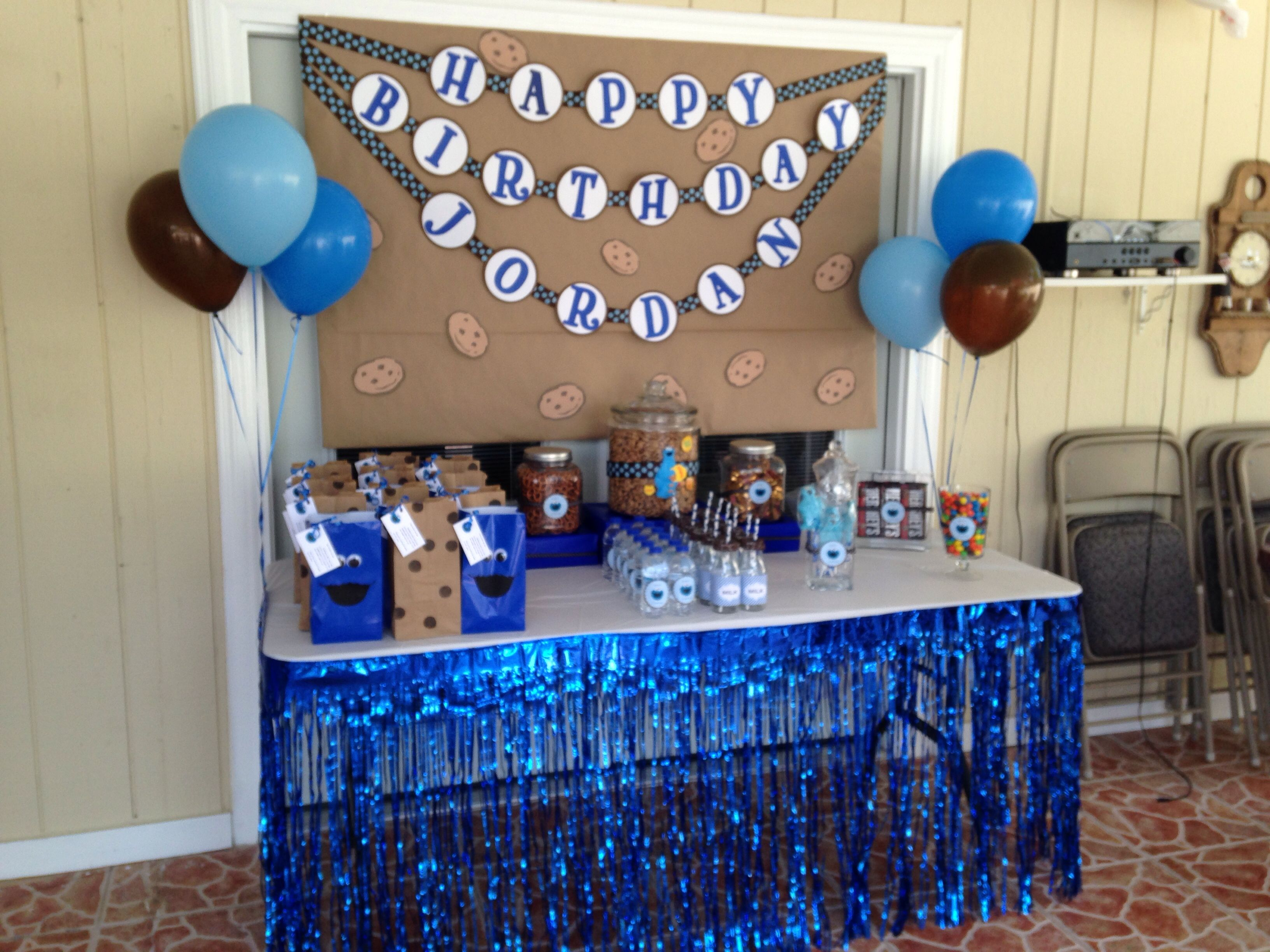 Cookie Monster Sweets Table Cookie Monster Birthday Party Cookie Monster Party Monster Party Decorations