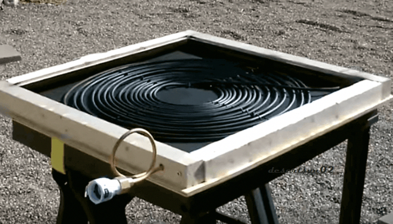 How To Start Making Portable Solar Thermal Copper Coil Water Heater In 2020 Solar Thermal Solar Heating