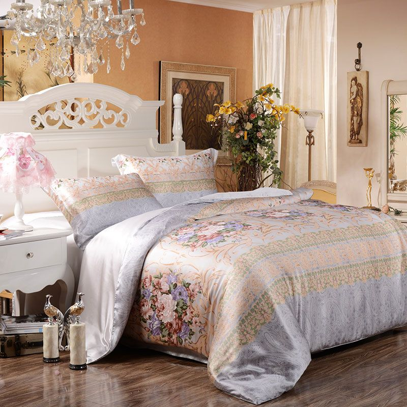 snowbedding.| Silk bed sheets, Bed sheets, Silk bedding