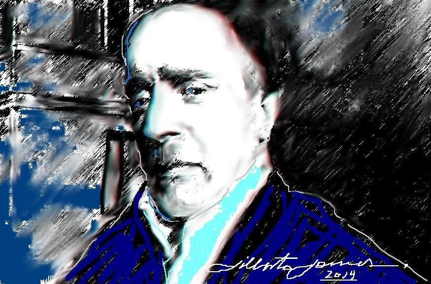 Retrato do amigo ator Francês ADEM CELIK - 2014 - Digital Art