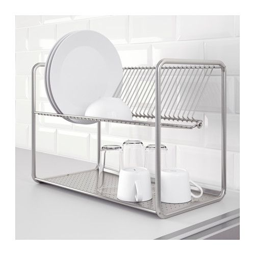 Ordning Dish Drainer Stainless Steel Ikea In 2020 Dish Drainers Ikea Kitchen Cabinets Ikea Kitchen Accessories