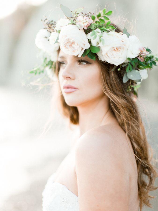 Organic Scarborough Bluffs Beach Wedding Inspiration Wedding Hair Flowers Beach Wedding Inspiration Flowers In Hair