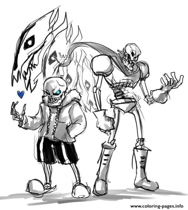 Print Undertale Papyrus Coloring Pages Dog Coloring Book