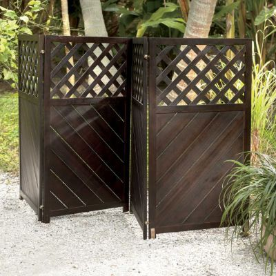 4 Panel Wood Privacy Screen For Air Conditioner Unit
