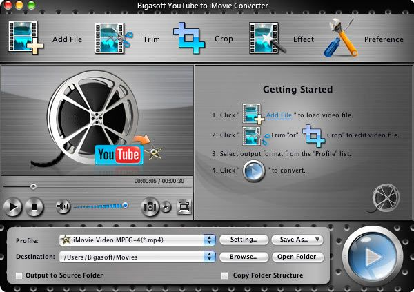 Bigasoft YouTube to iMovie Converter for Mac is the best
