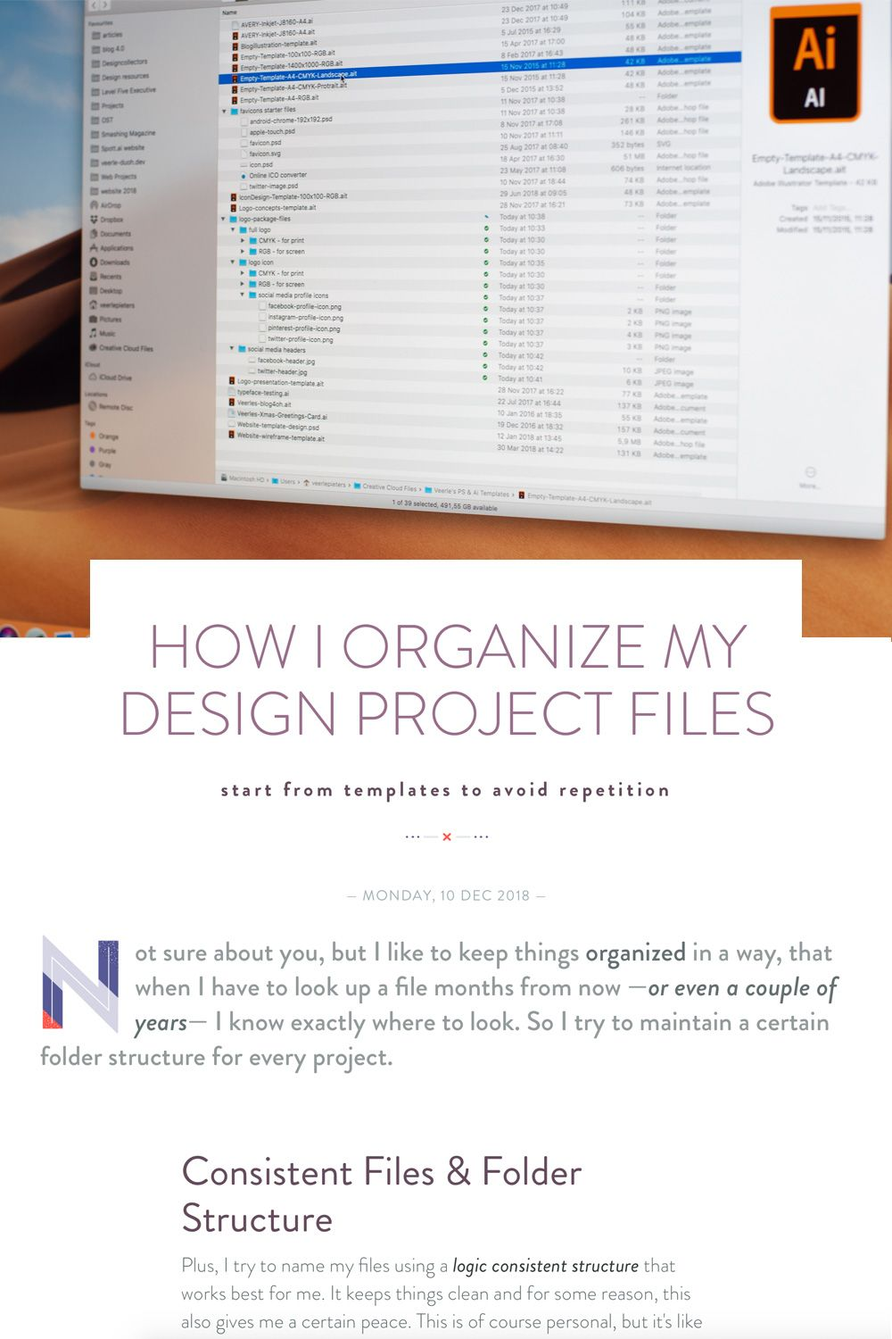 Veerle S Blog 4 0 How I Organize My Design Project Files My Design Design Projects Illustrator Template