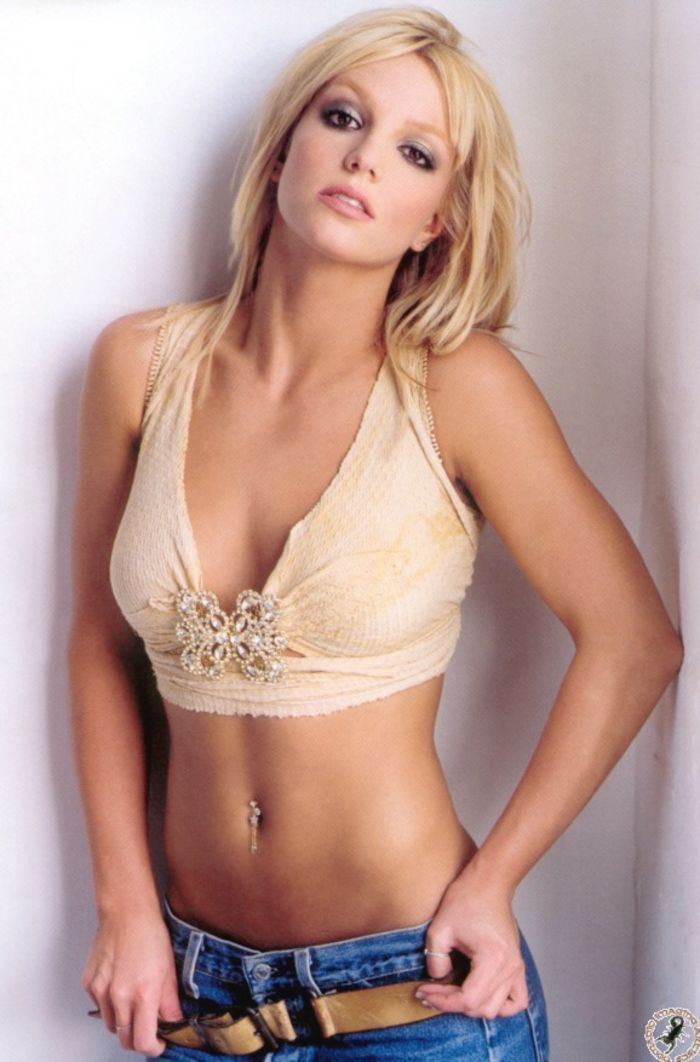 Go Britney Spears Pics - 'Britney' Promo Pictures - Jeans & Cropped Top  Pictures