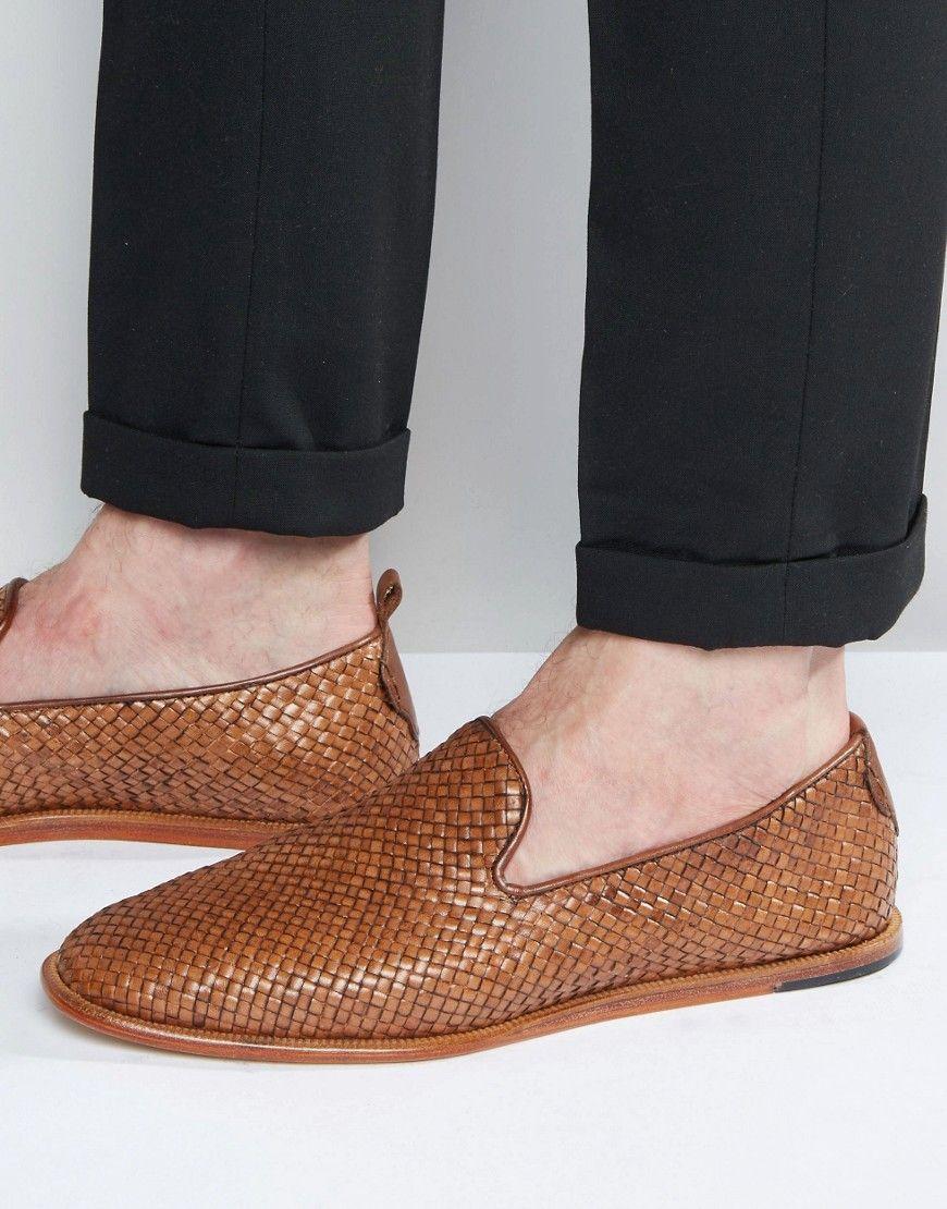cab03e83c403df HUDSON LONDON IPANEMA WEAVE SLIP ON LOAFER - TAN.  hudsonlondon  shoes