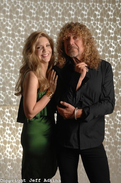 Musicians Alison Krauss And Robert Plant Pose For A Portrait At