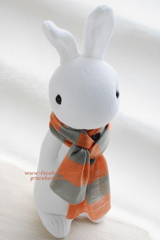 Grace--#337 sock Domy Rabbit   Sockies   Pinterest   Puppen, Tier ...