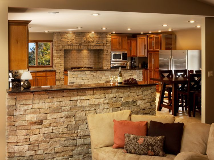 Rock Backsplash Rock Veneer Backsplash