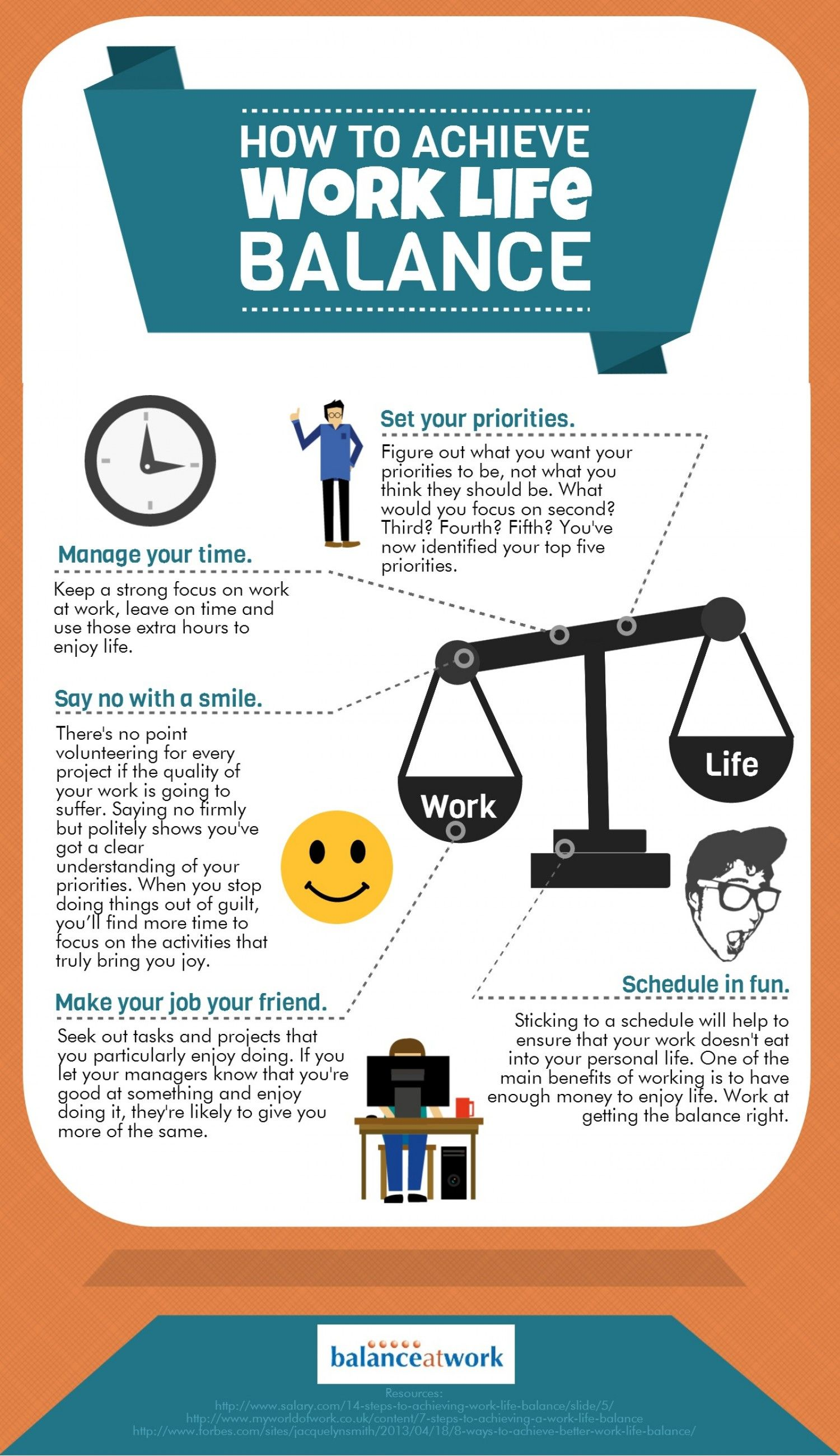 How To Achieve Work Life Balance Infographic