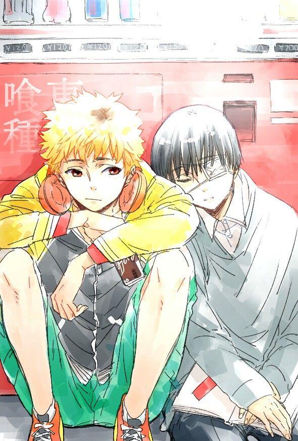 Ken Kaneki and Hide Nagachika