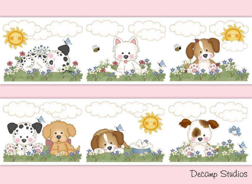 This Item Is Unavailable Etsy Dog Nursery Decor Girls Wallpaper Border Puppy Dog Nursery