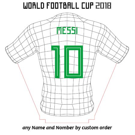 Messi Shirt 3d Illusion Lamp Plan Vector File For Laser And Cnc 3bee Studio 3d Illusion Lamp Illusions 3d Illusions