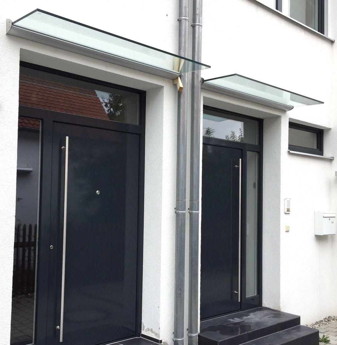 freitragendes glas vordach dura plus mit dachneigung t. Black Bedroom Furniture Sets. Home Design Ideas