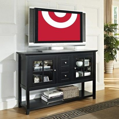 52 Console Table Tv Storage Stand Black Saracina Home Saracina Home Console Table Wooden Console Table
