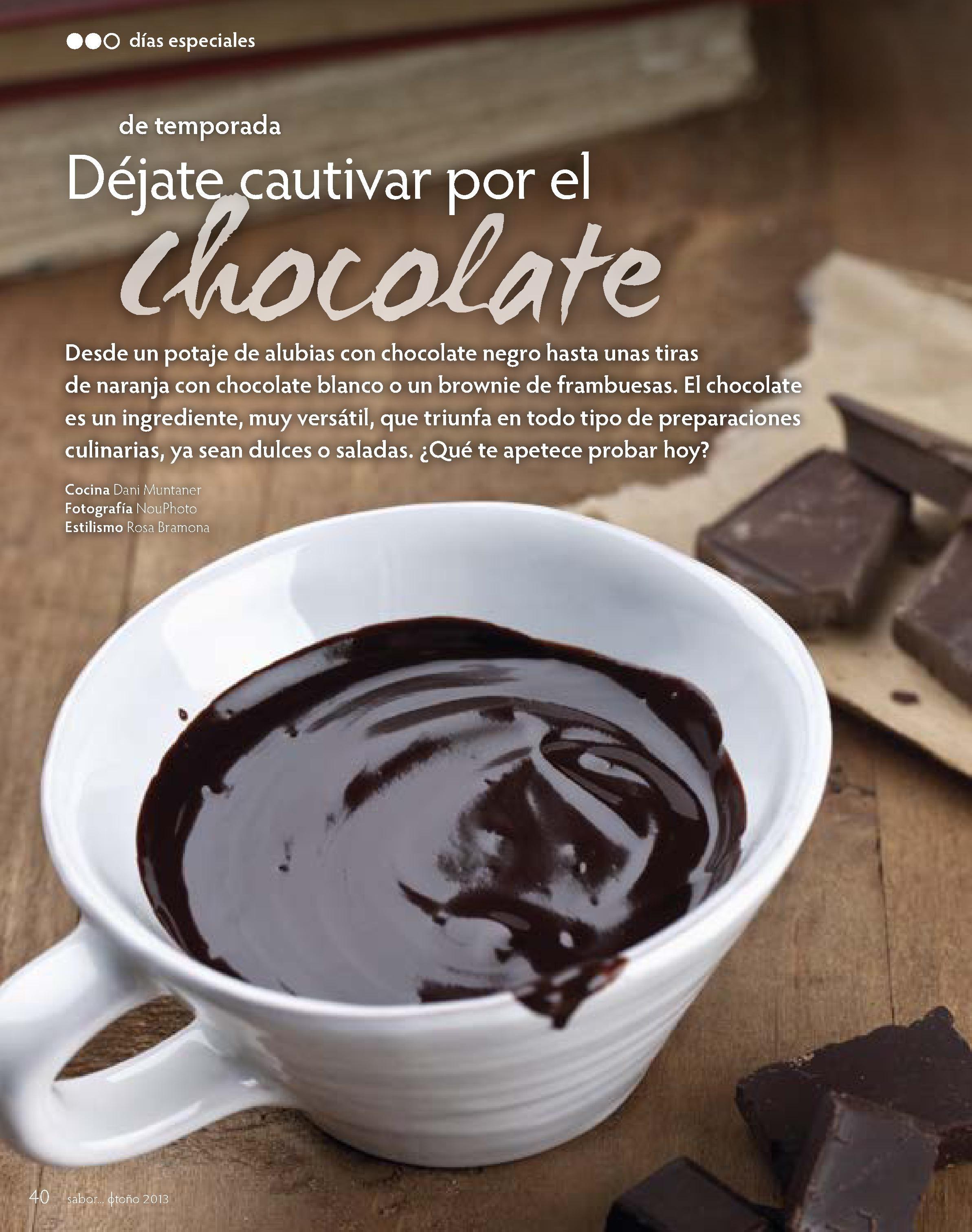 Cocinar con chocolate Estilismo Rosa Bramona Foto Nou Photo
