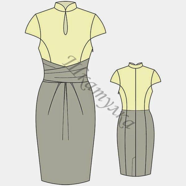 Patrón vestido de fiesta t.44 y t.48 | Patterns