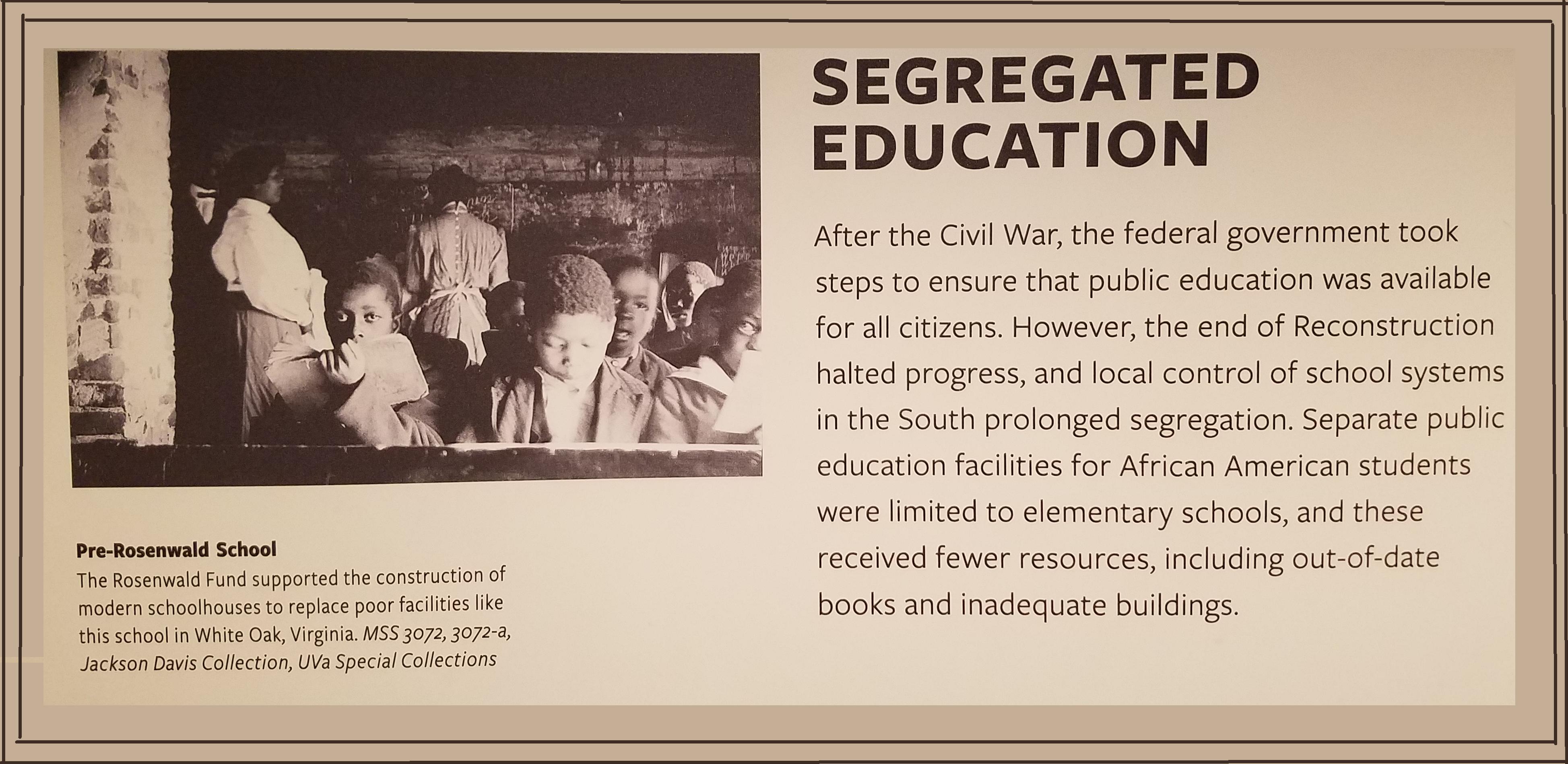 Segregated Education