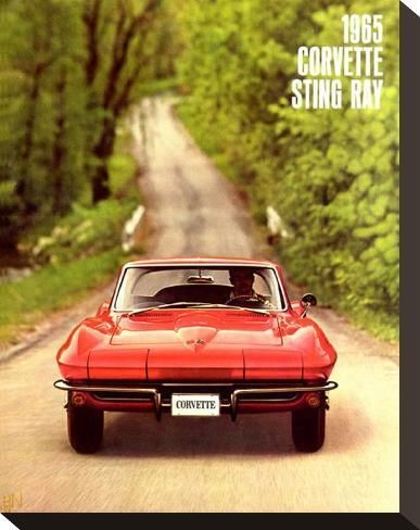 '1965 GM Corvette Sting Ray' Stretched Canvas Print - | Art.com