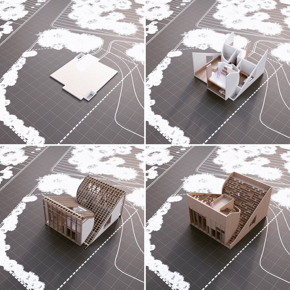 penda plans 'yin  yang house' for a family that wants to