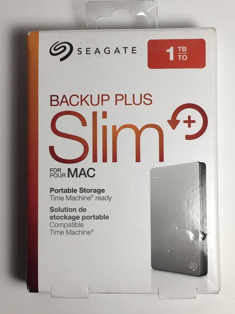 SEAGATE BACKUP PLUS SLIM 1TB PORTABLE EXTERNAL HDD DRIVE