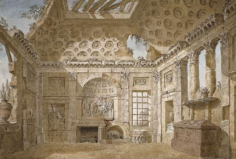 Clerisseau designing rooms in the 'antique' mode
