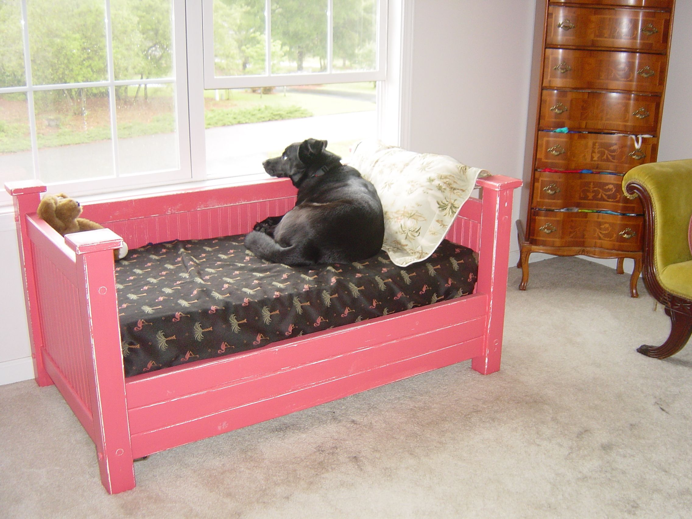 A Crib Size Pet Bed Made For Out Dog Sinatra. Crib