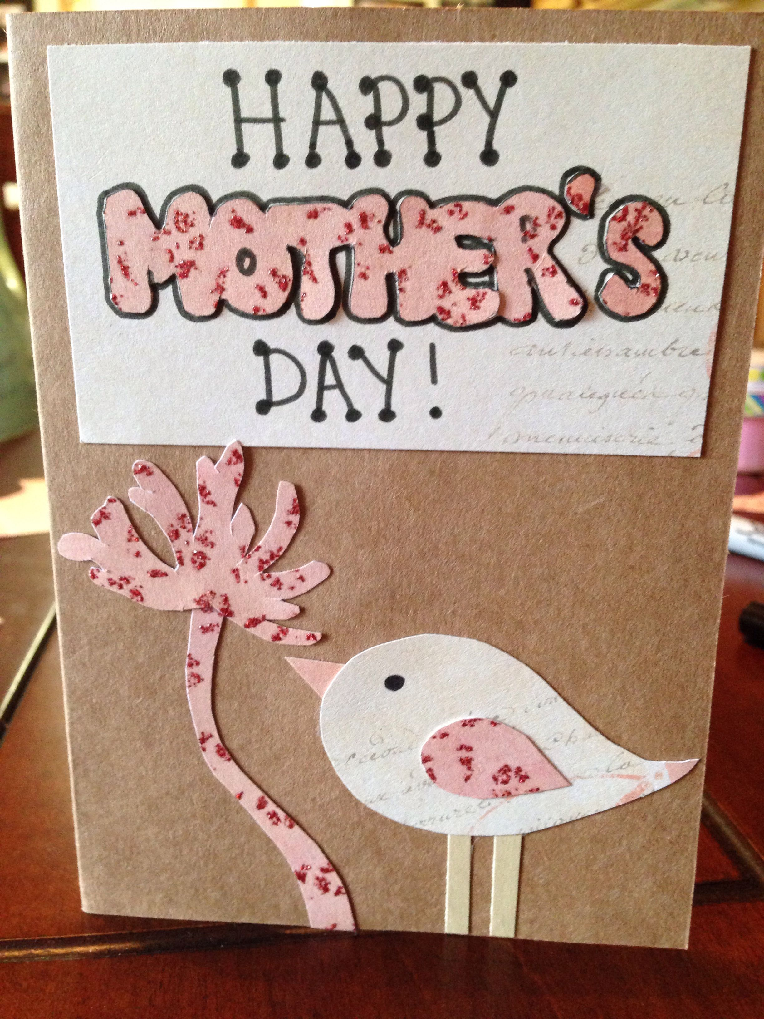 Homemade Mothers Day Card Holiday Ideas Pinterest