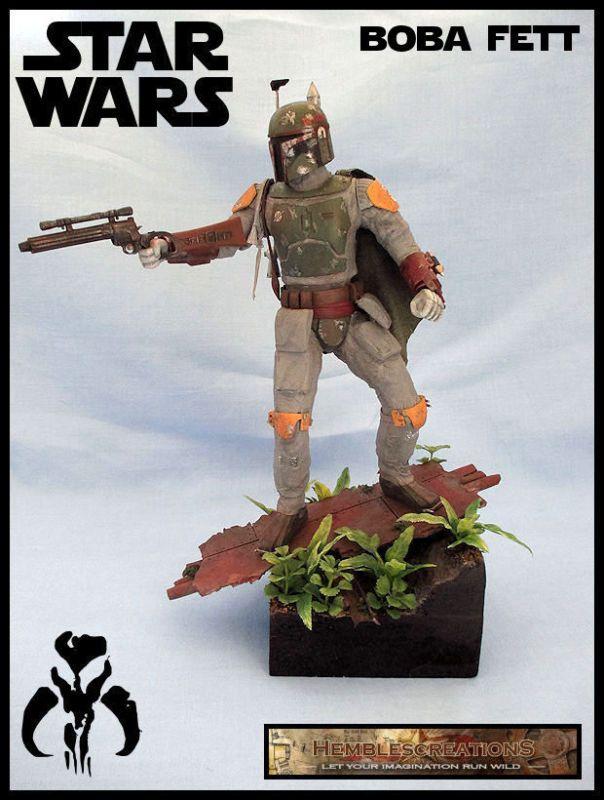 Boba Fett - Bounty Hunter (Star Wars) Custom Diorama / Playset