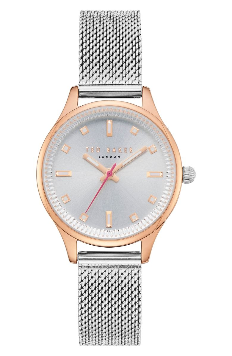 21e222c48 Free shipping and returns on Ted Baker London Zoe Mesh Strap Watch ...