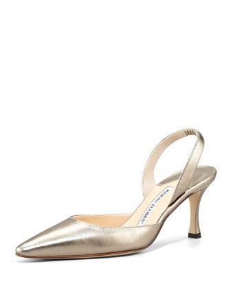 2f2280ddb3607 Carolyne Napa Mid-Heel Halter, Alba by Manolo Blahnik at Neiman Marcus.